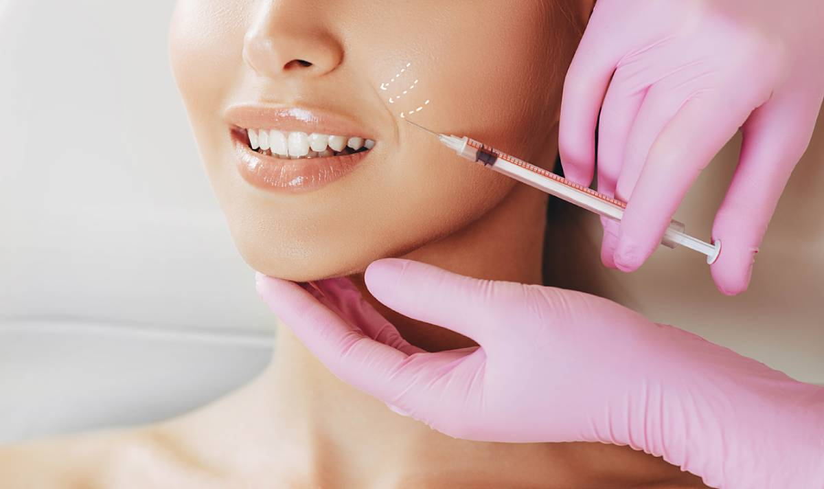 patient having injectables injected into lips